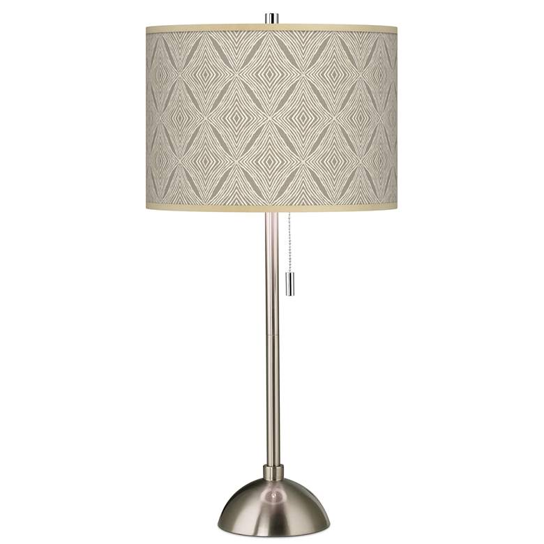 Moroccan Diamonds Giclee Brushed Nickel Table Lamp