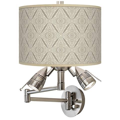 Moroccan Diamonds Giclee Swing Arm Wall Lamp