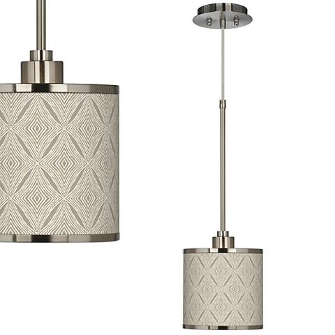 Moroccan Diamonds Giclee Glow Mini Pendant Light