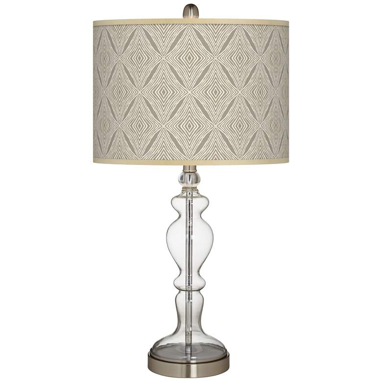 Moroccan Diamonds Giclee Apothecary Clear Glass Table Lamp