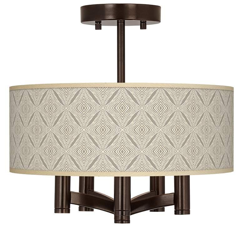 Moroccan Diamonds Ava 5-Light Bronze Ceiling Light