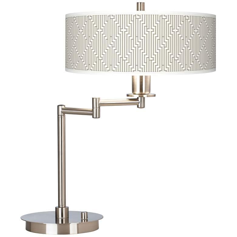Diamond Maze Giclee CFL Swing Arm Desk Lamp