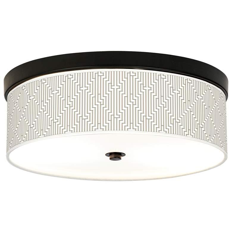 Diamond Maze Giclee Energy Efficient Bronze Ceiling Light