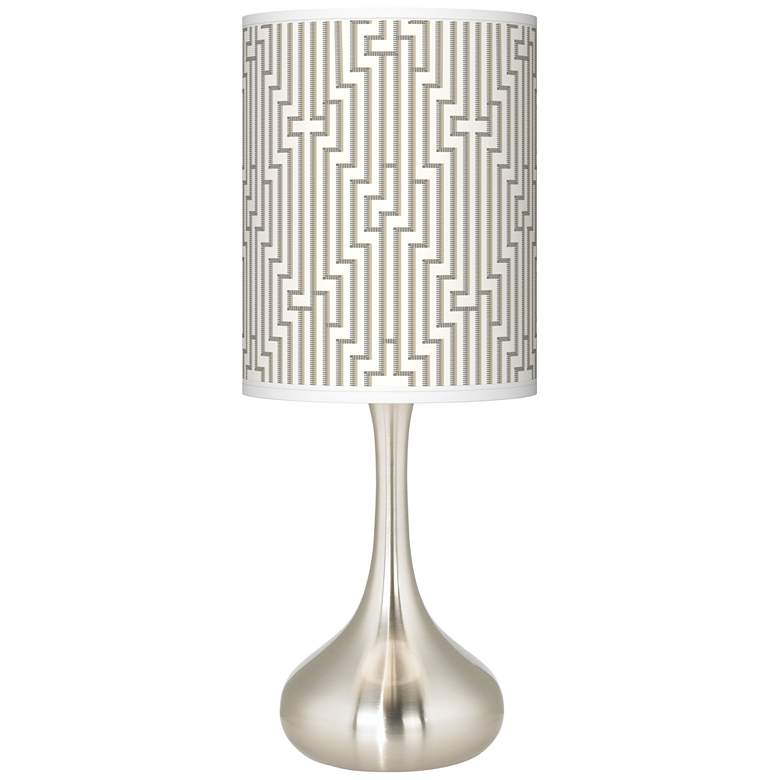 Diamond Maze Giclee Droplet Table Lamp