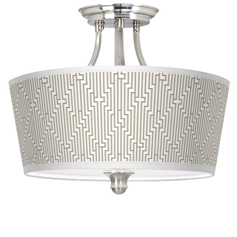 Diamond Maze Tapered Drum Giclee Ceiling Light