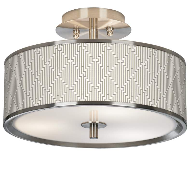 "Diamond Maze Giclee Glow 14"" Wide Ceiling Light"