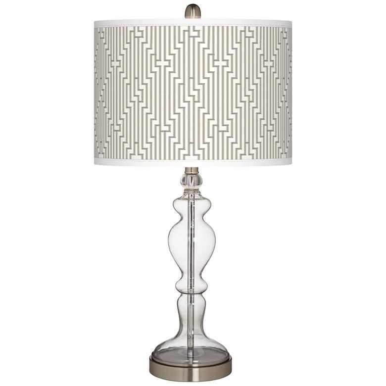 Diamond Maze Giclee Apothecary Clear Glass Table Lamp
