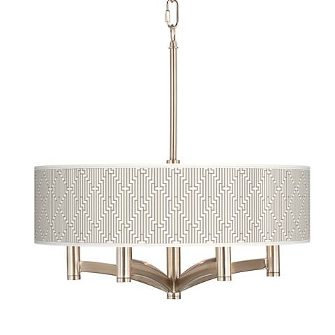 Diamond Maze Ava 6-Light Nickel Pendant Chandelier