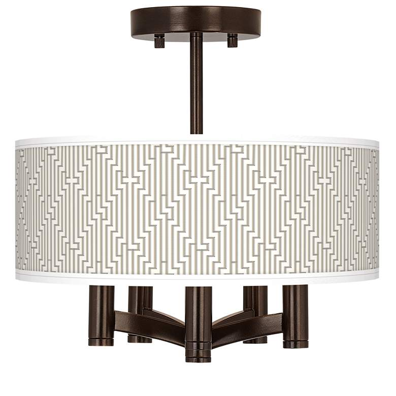 Diamond Maze Ava 5-Light Bronze Ceiling Light