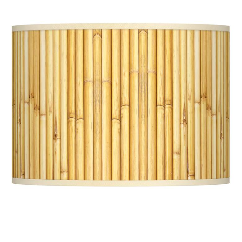 Bamboo Mat Giclee Lamp Shade 13.5x13.5x10 (Spider)