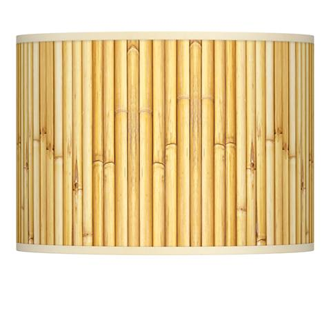 Bamboo Mat Giclee Lamp Shade 13.5x13.5x10 (Spider)