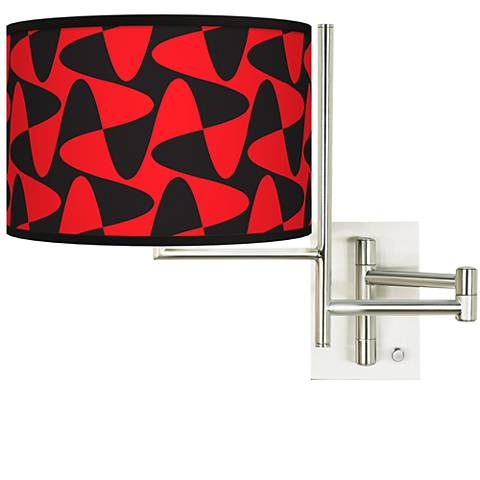 Tempo Rockabilly Waves Plug-in Swing Arm Wall Lamp
