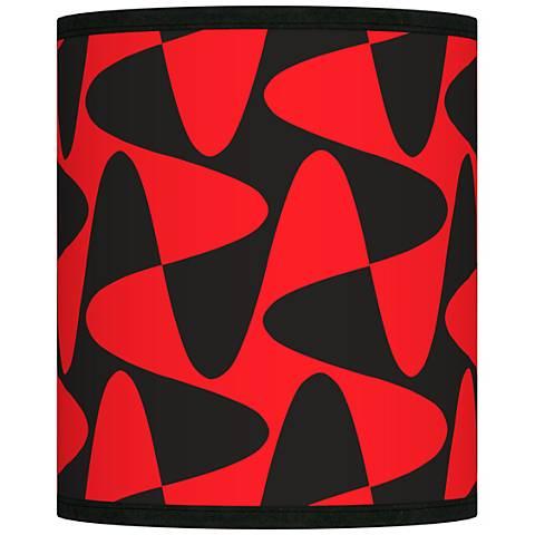 Rockabilly Waves Giclee Shade 10x10x12 (Spider)