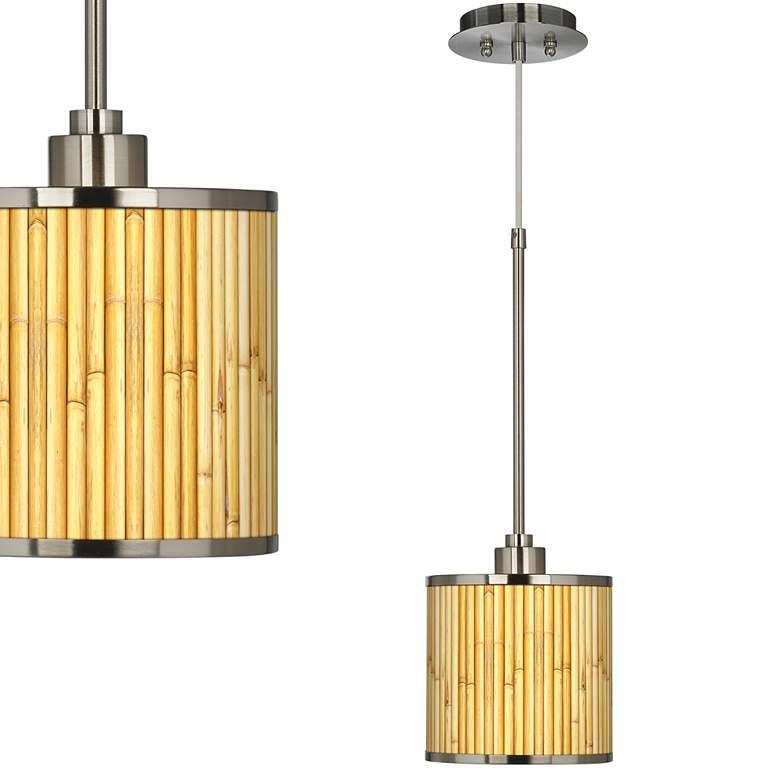 Bamboo Mat Giclee Glow Mini Pendant Light
