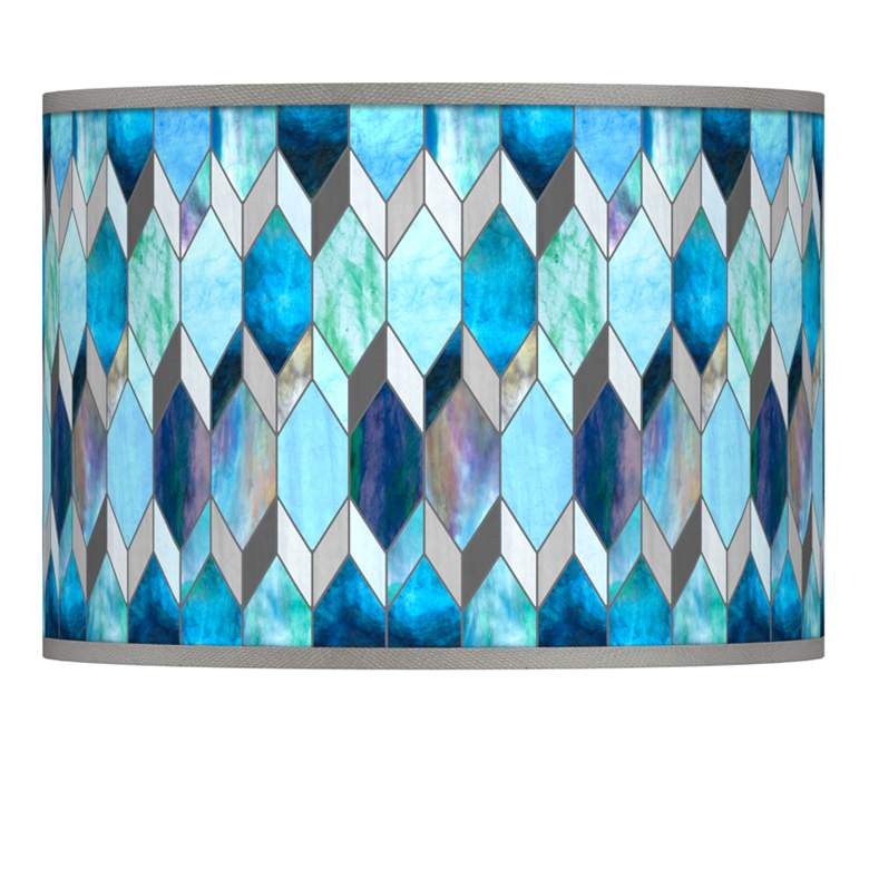 Blue Tiffany-Style Giclee Lamp Shade 13.5x13.5x10 (Spider)