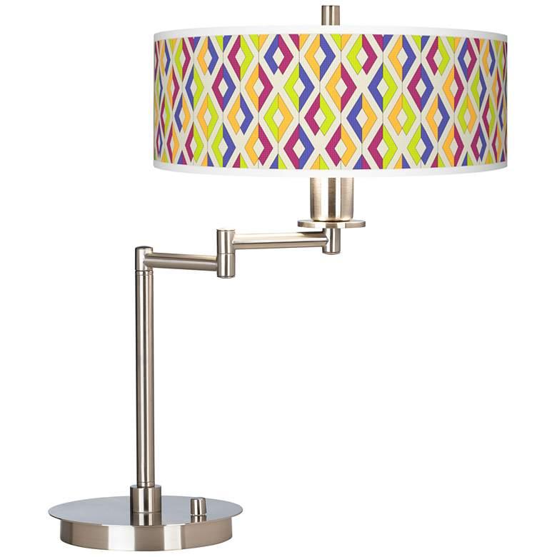 Chromatic Diamonds Giclee CFL Swing Arm Desk Lamp