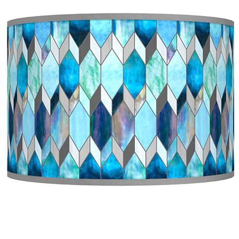 Blue Tiffany-Style Giclee Shade 12x12x8.5 (Spider)