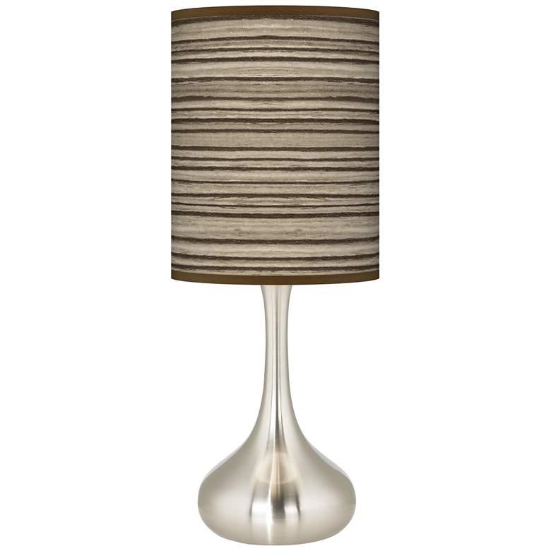 Cedar Zebrawood Giclee Droplet Table Lamp