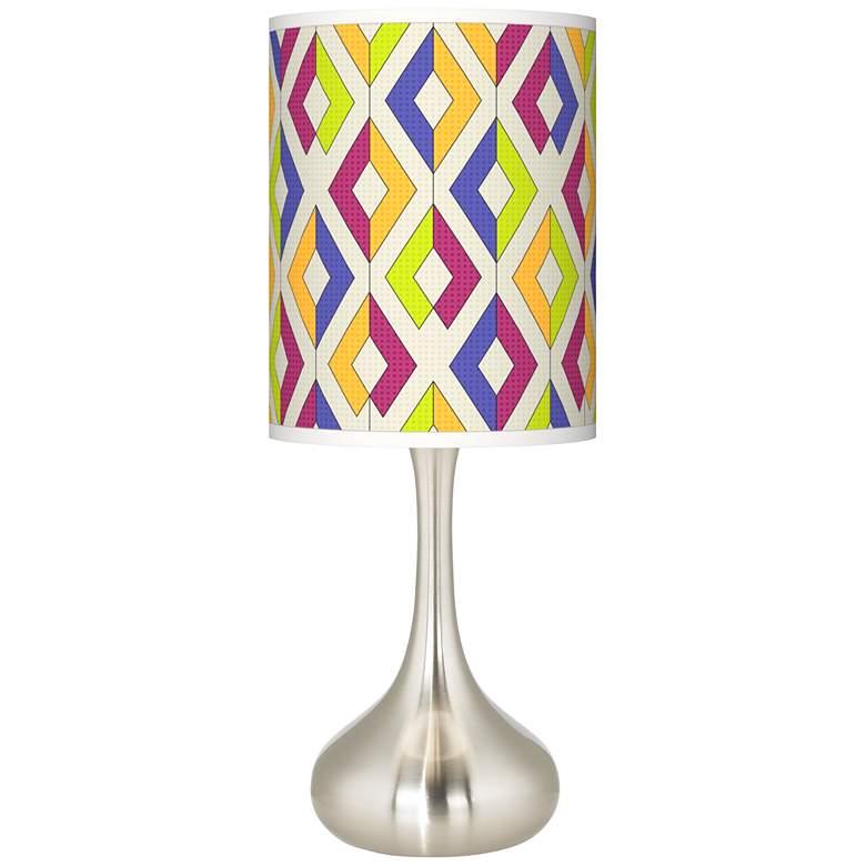 Chromatic Diamonds Giclee Droplet Table Lamp