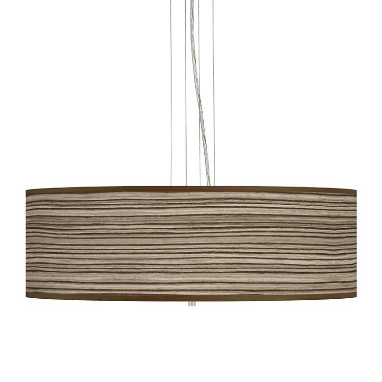 """Cedar Zebrawood Giclee 24"""" Wide 4-Light Pendant Chandelier"""