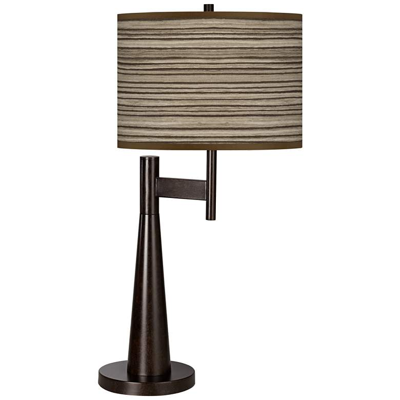 Cedar Zebrawood Giclee Novo Table Lamp