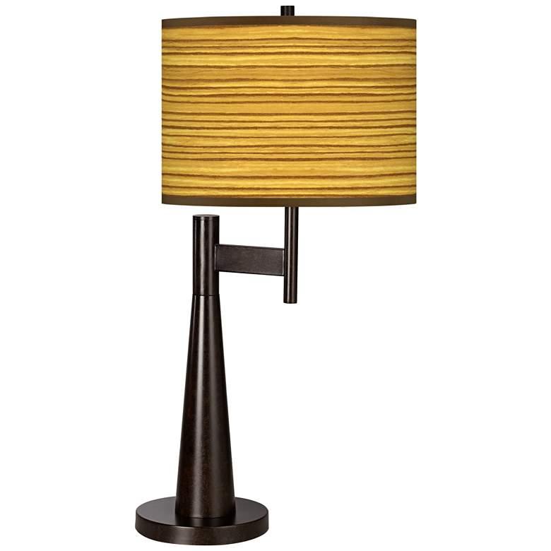 Tawny Zebrawood Giclee Novo Table Lamp