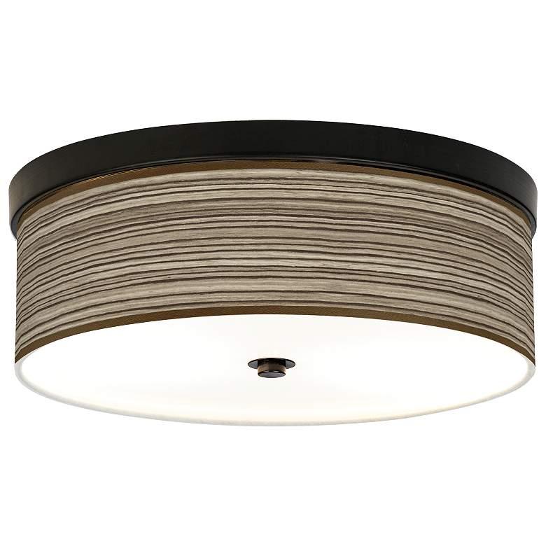 Cedar Zebrawood Giclee Energy Efficient Bronze Ceiling Light
