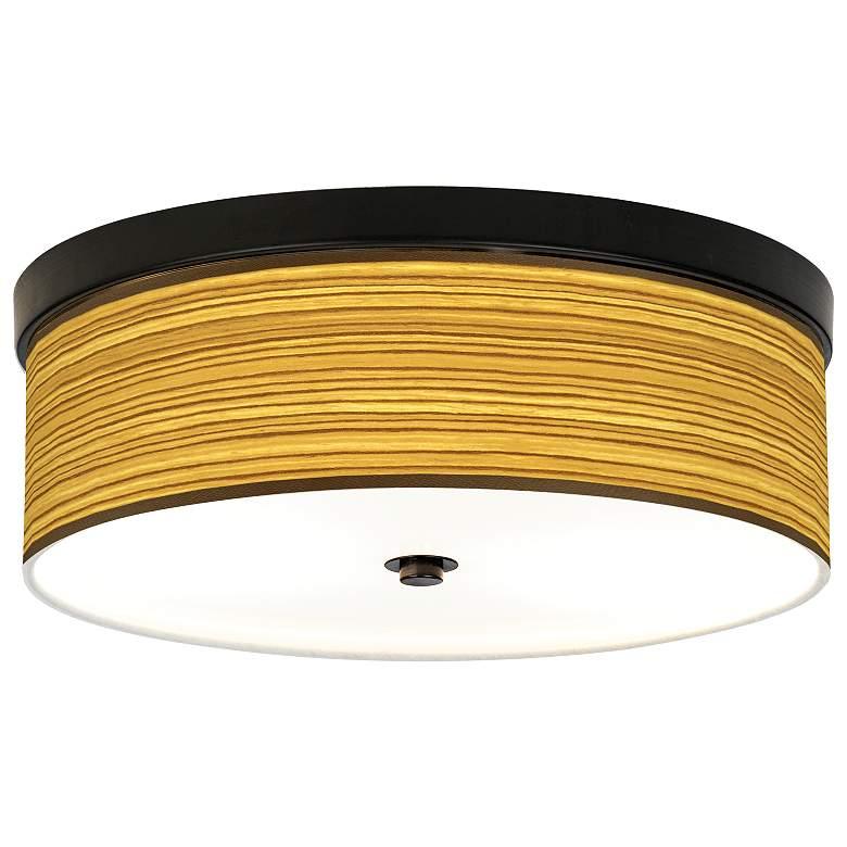 Tawny Zebrawood Giclee Energy Efficient Bronze Ceiling Light