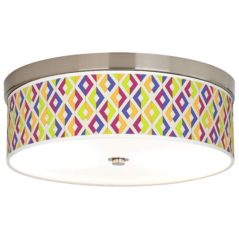 Chromatic Diamonds Giclee Energy Efficient Ceiling Light