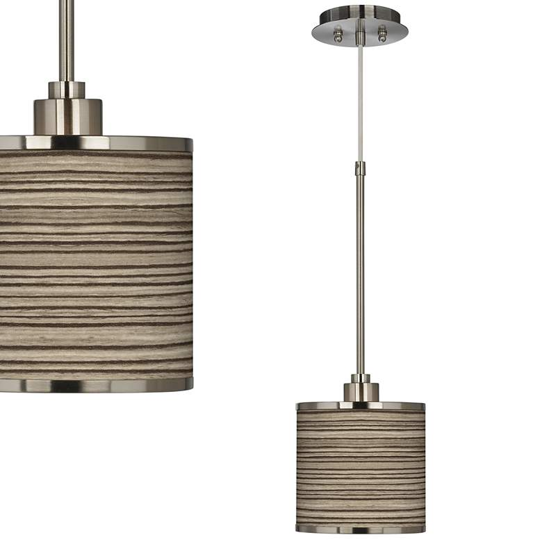Cedar Zebrawood Giclee Glow Mini Pendant Light