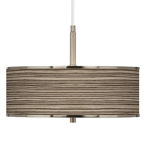"Cedar Zebrawood Giclee Glow 16"" Wide Pendant Light"
