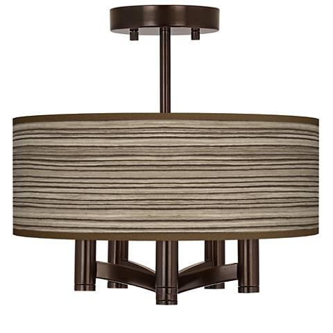 Cedar Zebrawood Ava 5-Light Bronze Ceiling Light