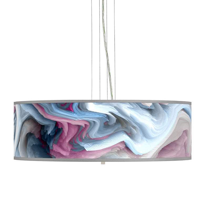 """Europa Giclee 24"""" Wide 4-Light Pendant Chandelier"""