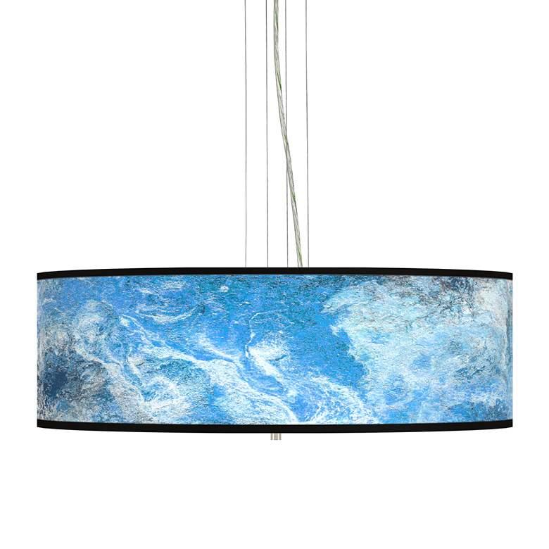 "Ultrablue Giclee 24"" Wide 4-Light Pendant Chandelier"
