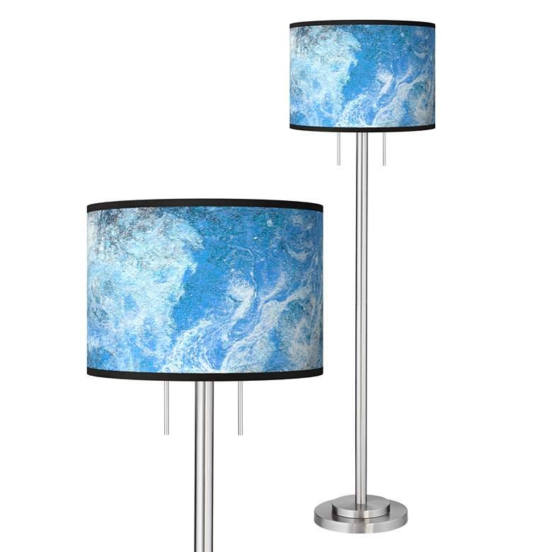 Ultrablue Giclee Brushed Nickel Garth Floor Lamp