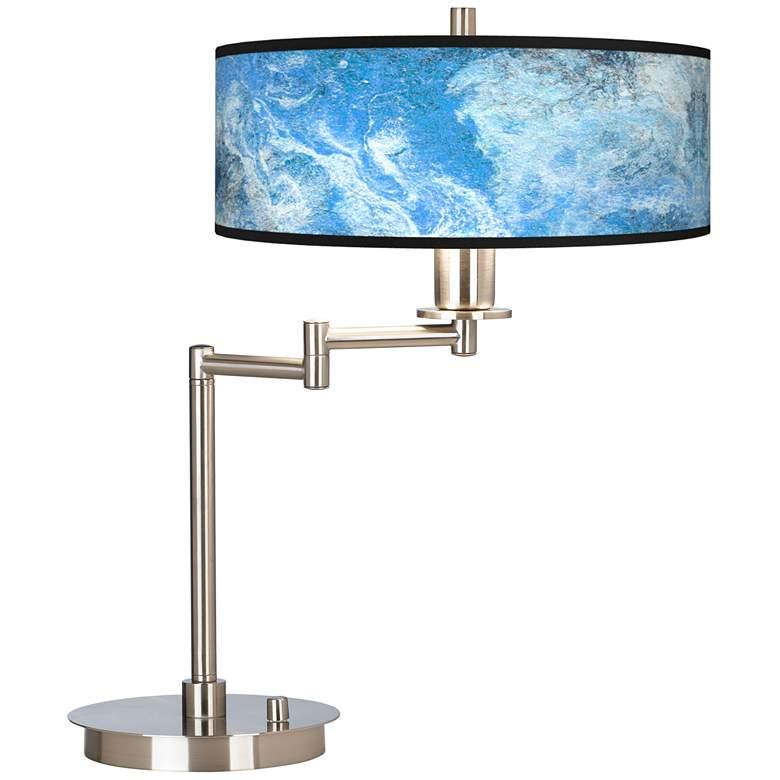 Ultrablue Giclee CFL Swing Arm Desk Lamp