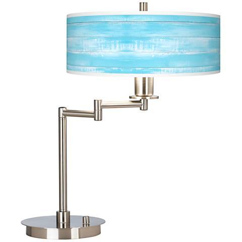 Barnyard Blue Giclee CFL Swing Arm Desk Lamp