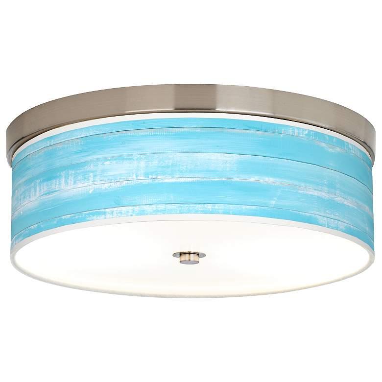 Barnyard Blue Giclee Energy Efficient Ceiling Light