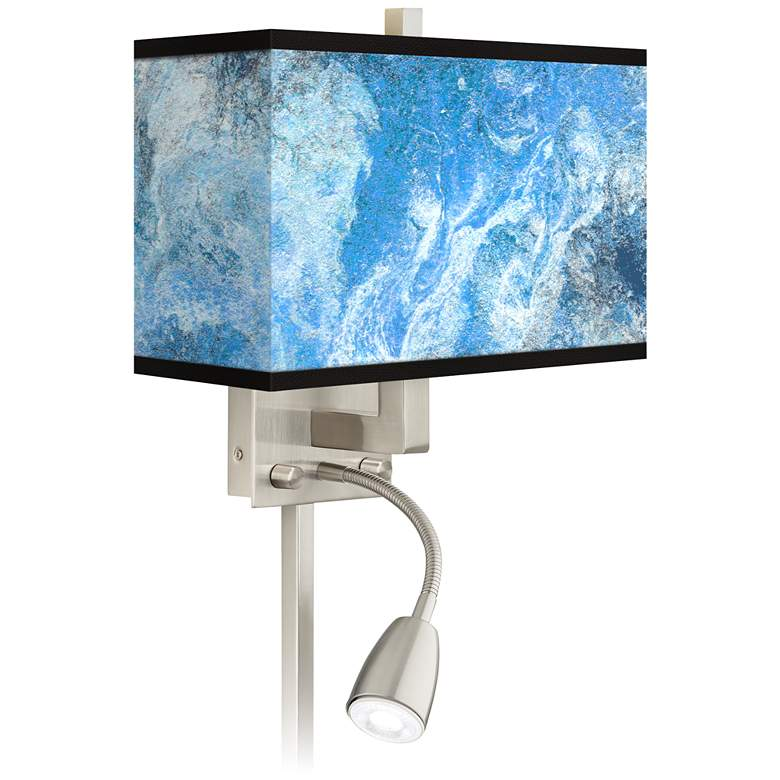 Ultrablue Giclee Glow LED Reading Light Plug-In Sconce