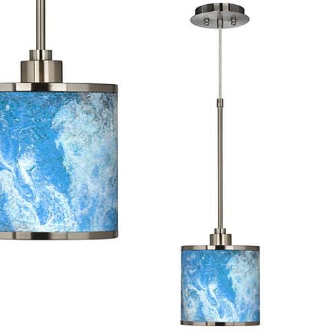 Ultrablue Giclee Glow Swag Style Plug-In Chandelier