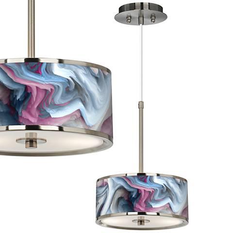 "Europa Giclee Glow 10 1/4"" Wide Pendant Light"