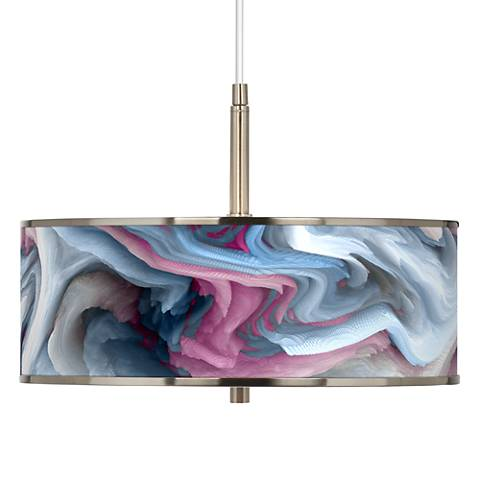 "Europa Giclee Glow 16"" Wide Pendant Light"