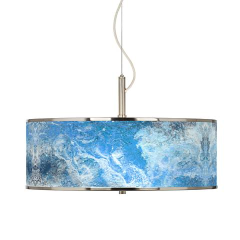 "Ultrablue Giclee Glow 20"" Wide Pendant Light"