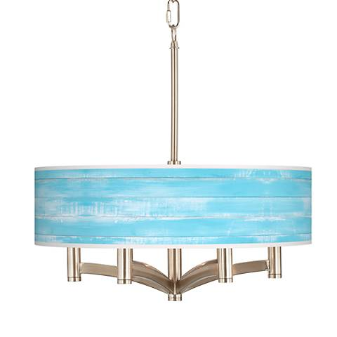 Barnyard Blue Ava 6-Light Nickel Pendant Chandelier