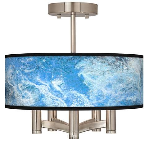 Ultrablue Ava 5-Light Nickel Ceiling Light