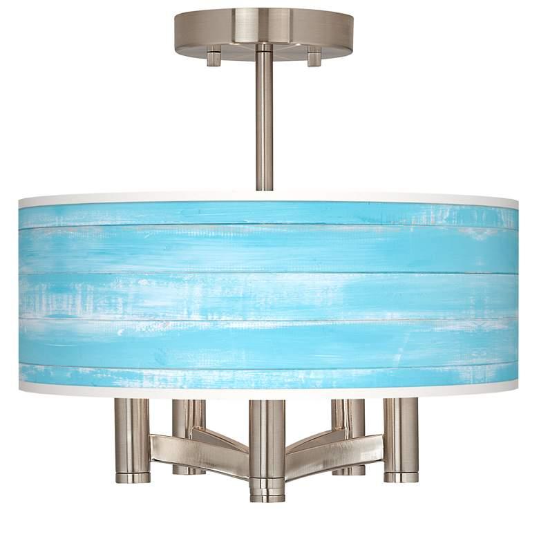 Barnyard Blue Ava 5-Light Nickel Ceiling Light