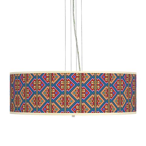 "Rich Bohemian Giclee 24"" Wide 4-Light Pendant Chandelier"