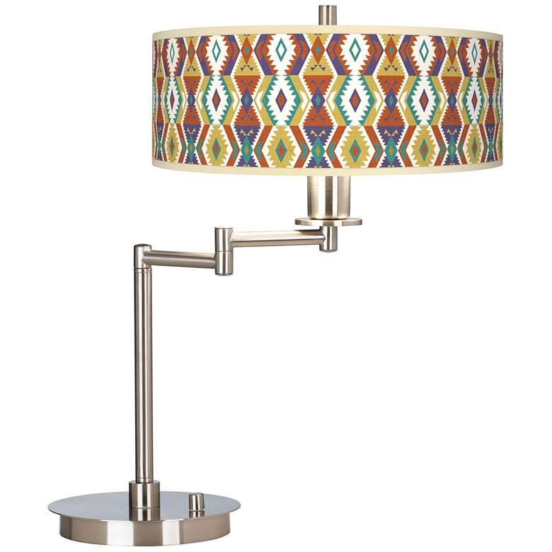 Southwest Giclee CFL Swing Arm Desk Lamp