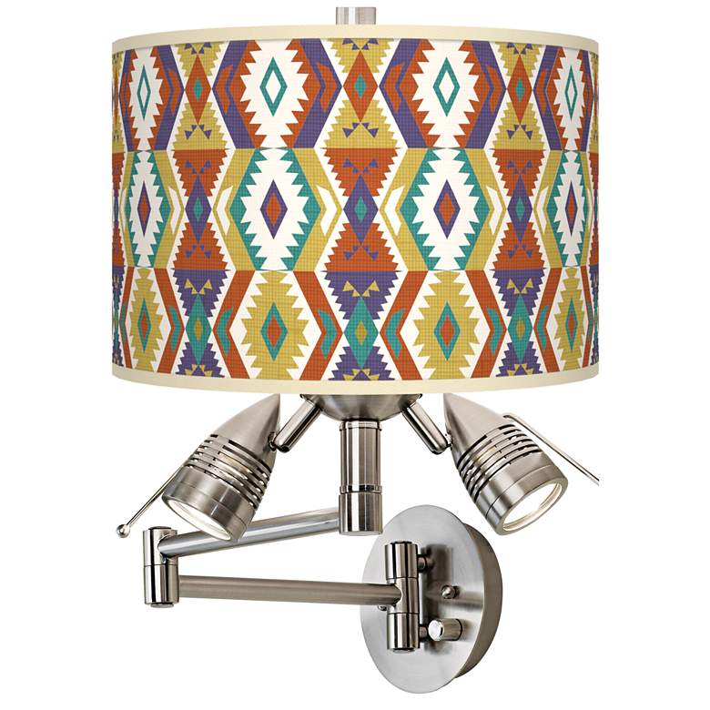 Southwest Giclee Plug-In Swing Arm Wall Lamp