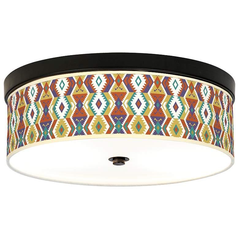 Southwest Bohemian Giclee Energy Efficient Bronze Ceiling Light